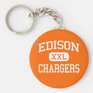 Edison - Chargers - High School - Milan Ohio Keychain