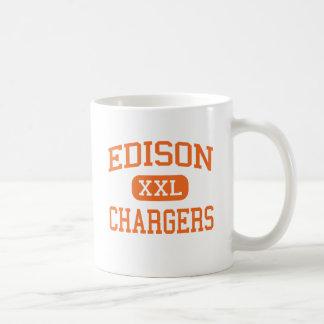 Edison - Chargers - High School - Milan Ohio Basic White Mug