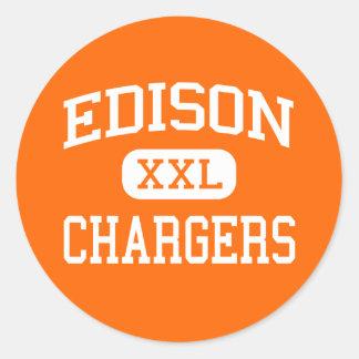 Edison - Chargers - High School - Milan Ohio Classic Round Sticker