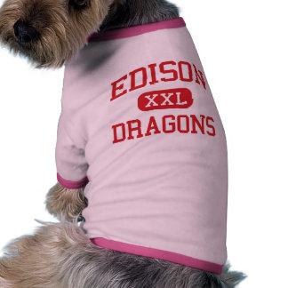 Edison - Dragons - Junior High School - Niles Ohio Dog Tee Shirt