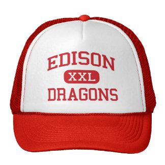 Edison - Dragons - Junior High School - Niles Ohio Mesh Hats