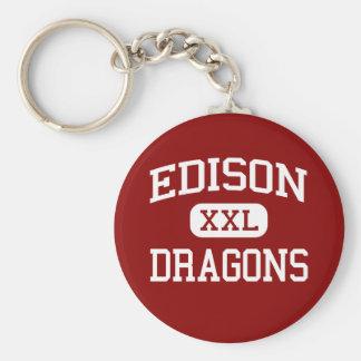 Edison - Dragons - Junior High School - Niles Ohio Key Chain