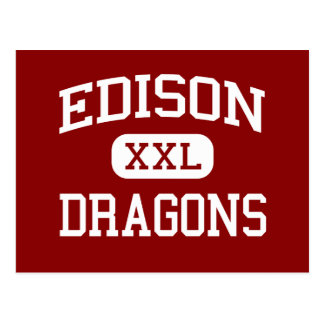 Edison - Dragons - Junior High School - Niles Ohio Postcard