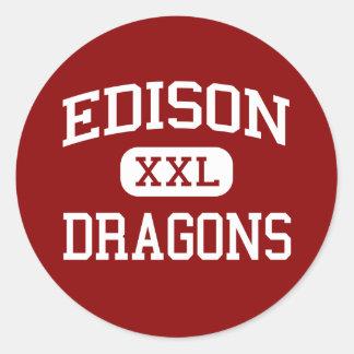 Edison - Dragons - Junior High School - Niles Ohio Sticker