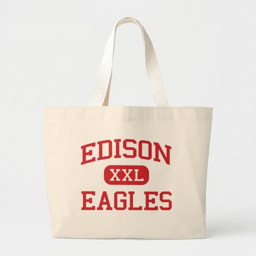 Edison - Eagles - High School - Edison New Jersey Canvas Bags