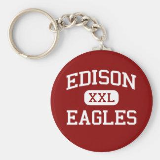 Edison - Eagles - High School - Edison New Jersey Basic Round Button Key Ring
