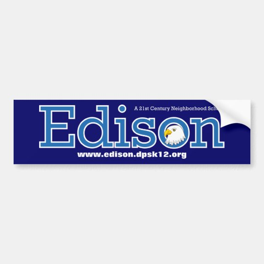 Edison Elementary School Bumpersticker Bumper Sticker