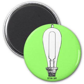 Edison Lamp 6 Cm Round Magnet