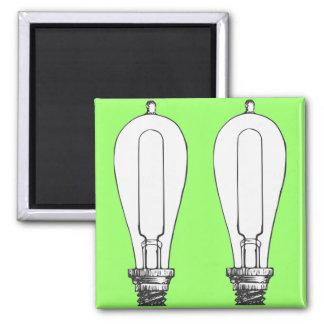 Edison Lamp Square Magnet