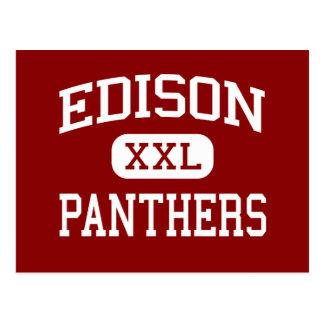 Edison - Panthers - Junior - Pekin Illinois Postcard