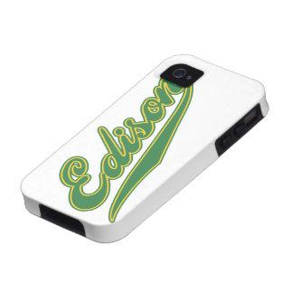 Edison Script Vibe iPhone 4 Covers