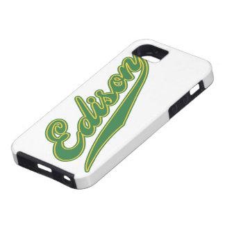 Edison Script iPhone 5 Cases