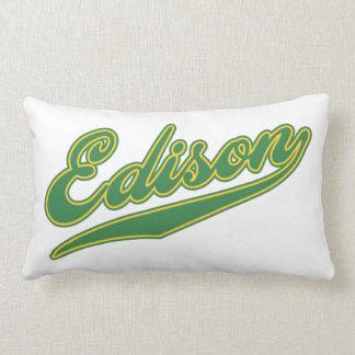 Edison Script Throw Pillow