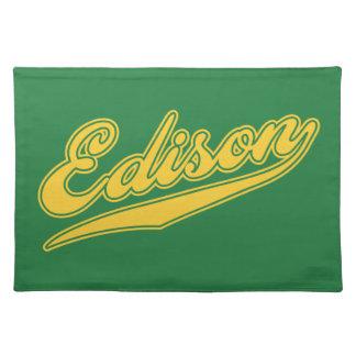 Edison Script Placemats