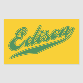 Edison Script Rectangular Sticker