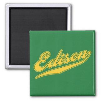 Edison Script Square Magnet
