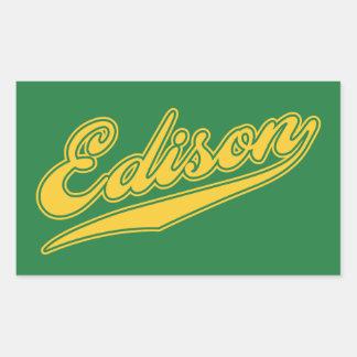Edison Script Stickers
