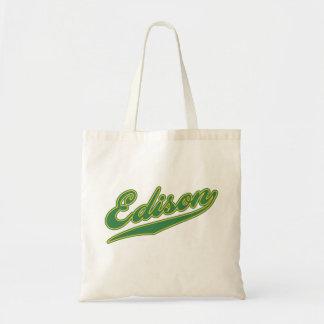 Edison Script Tote Bag