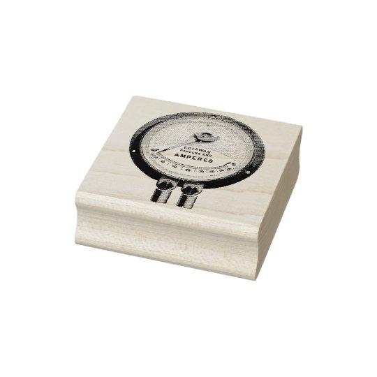 Edison-Swan Ampere Metre Rubber Art Stamp