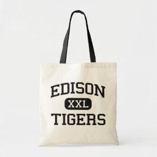 Edison - Tigers - High School - Fresno California Tote Bags