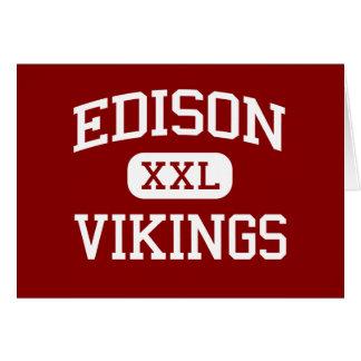 Edison - Vikings - High - Stockton California Greeting Card