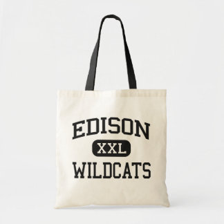 Edison - Wildcats - High School - Richmond Ohio Tote Bags