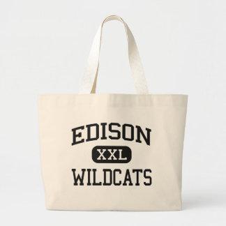 Edison - Wildcats - High School - Richmond Ohio Canvas Bag
