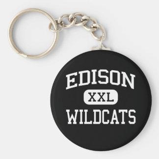 Edison - Wildcats - High School - Richmond Ohio Keychain