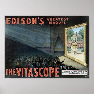 Edison's Greatest Marvel - The Vitascope Poster