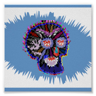 Edit Select Background Color U LIKE : SKULL GHOST Poster