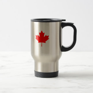 Editable Background Color, Canada Flag Souvenir Travel Mug