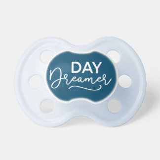 Editable Background Color Modern Day Dreamer Baby Pacifier