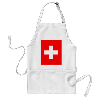 Editable background Color, The Flag of Switzerland Adult Apron