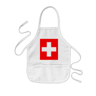 Editable background Color, The Flag of Switzerland Kids Apron