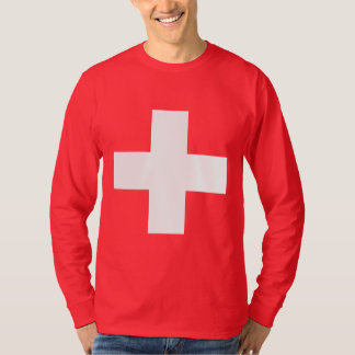 Editable background Color, The Flag of Switzerland Tee Shirts