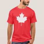 Editable Background Colour, White Canada Maple T-Shirt