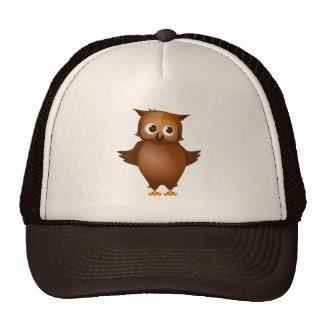 Editable Background - Cute Brown Owl Cap