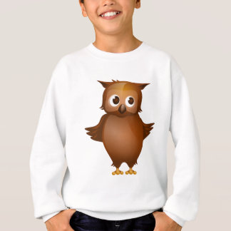 Editable Background - Cute Brown Owl Sweatshirt