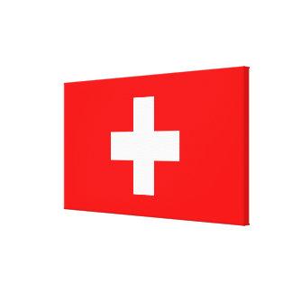 Editable Background, The Flag of Switzerland Canvas Print