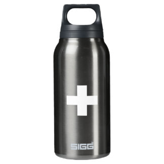 Editable Background, The Flag of Switzerland Insulated Water Bottle