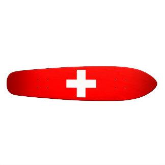 Editable Background, The Flag of Switzerland Skate Board Decks