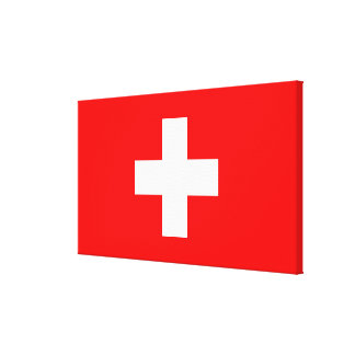 Editable Background, The Flag of Switzerland Stretched Canvas Print