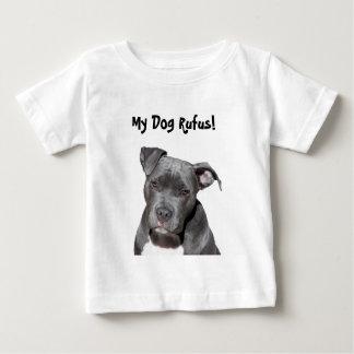 Editable Black Pitbull Baby T-Shirt
