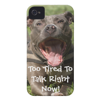 Editable Brown Pitbull In Grass Case-Mate iPhone 4 Cases