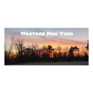 Editable Buffalo Images Sunset Bookmark Rack Card