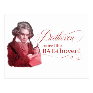 EDITABLE Classical Music w/ Beethoven Valentine Postcard