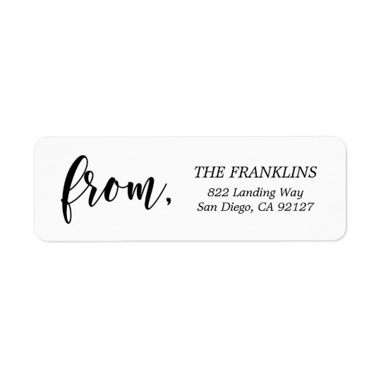 EDITABLE COLOR Classic Modern Address Labels