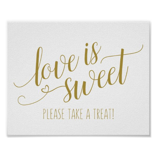 EDITABLE COLOR! Love is Sweet Calligraphy Sign