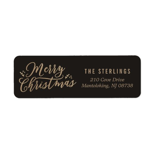 EDITABLE COLOR Merry Christmas Address Labels