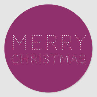 EDITABLE Color Merry Christmas Holiday Classic Round Sticker